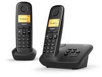Telephone with answering machine Siemens Gigaset A270A Duo - black