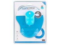 Pack draadloze muis met stille klik en ergonomische muismat - blauw