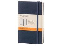 Notitieboekje Moleskine sterk 9 x 14 cm ivoor gelijnd 192 pagina's - nachtblauw