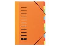 Pagna sorteermap Trend voor ft A4, 12 vakken, oranje