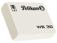 Gomme crayon Pelikan WS30 douce blanche 37x30x9mm