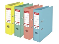 Plastic lever arch file Esselte N°1 Power Colour Ice A4 - back 7,5 cm assorted colors