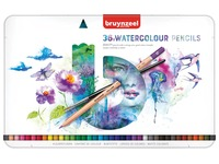 Crayons de couleur Bruynzeel Aquarelle Expression boîte de 36 pièces assorti