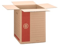 Moving box Bruneau brown kraft double undulation H 58 x W 46 x D 46 cm