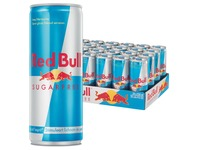 Red Bull boisson énergisante 25 cl, paquet de 25, sugarfree