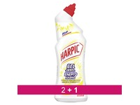 Pack 2 + 1 Gel WC Harpic javel triple action lime and grapefruit - bottle of 750 ml