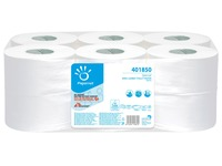 Toilet paper Mini Jumbo double thickness white - box of 12 rolls 170 m