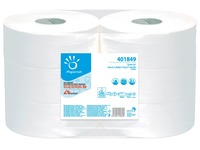 Toilet paper Maxi Jumbo double thickness white - box of 6 rolls 360 m