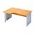 bureau afgerond werkpost desk steunpoot vol paneel