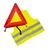 geel driehoek fluo signalisatie veiligheid gevarendriehoek  vestje lichtgevende